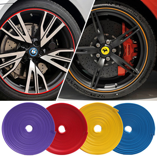 HUANLISUN free shipping 8m Car rim protection circle decoration strip rim crash bar rim refires wire protection