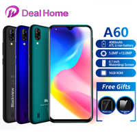 New Blackview A60 19:9 6.1 inch Smartphone 4080mAh battery 1GB RAM 16GB ROM 13MP Rear Camera MT6580 Quad core Mobile Phone