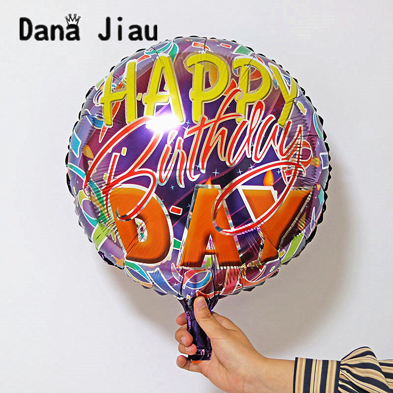 NEW 18 Inch Cool Boy Happy Birthday Theme Balloon Party Decoration Toy Kids Aluminium Auto Seal Ballons Wholesale