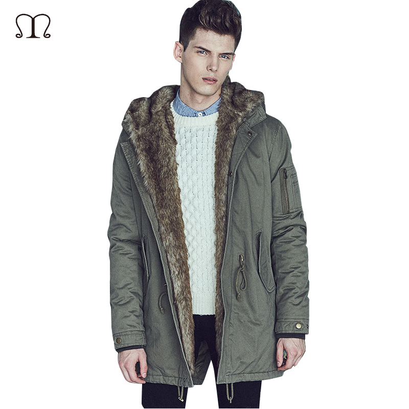 Brand Parkas Men Thickening Winter Coat Military Cotton-Padded Jacket Men New Fashion Warm With Fur Parka Male Outwear Overcoats hot sale new winter mens jacket and coats fashion men cotton coat hoodies wadded military thickening casual outwear h4573
