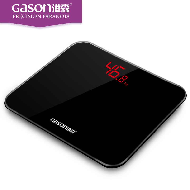 Gason A3 Black 180kg electronic digital weight weighing bathroom scale body floor balance steelyard household scales machine