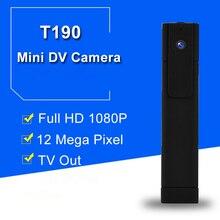 T190 Espionado Câmera Full HD 1080 P H.264 Mini Câmera Digital Micro Câmera Da Pena DV Pequena Câmera de Vídeo DVR Gravador De Voz Camcorder