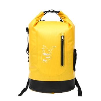 Outdoor 30L Large Waterproof Dry Backpack Compression Storage Waterproof Bag Camping Drift Storage Adjustable Shoulder Strap Hoo