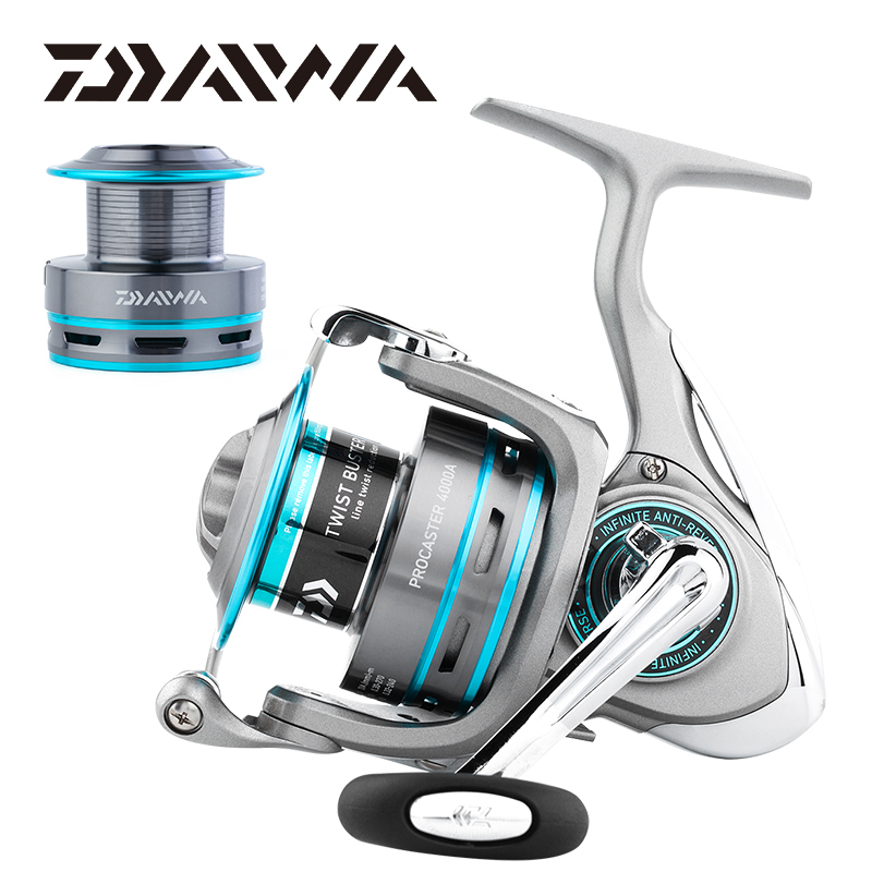 Original DAIWA PROCASTER A Spinning fishing reel 2000/2500/3000/4000A 7BB Carretilha Moulinet Peche saltwater +Spare metal spool