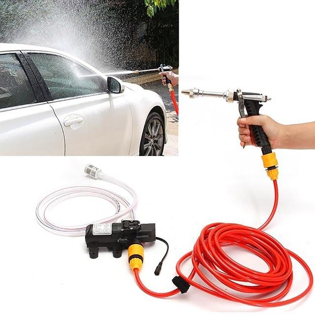 Car Washing Device 70w Portable High Pressure Cleaning Pump Machine Dc 12v