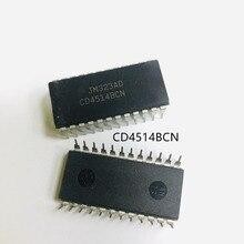 10 PCS CD4514BCN CD4514 4514B 4514BCN DIP   24 IC เดิม