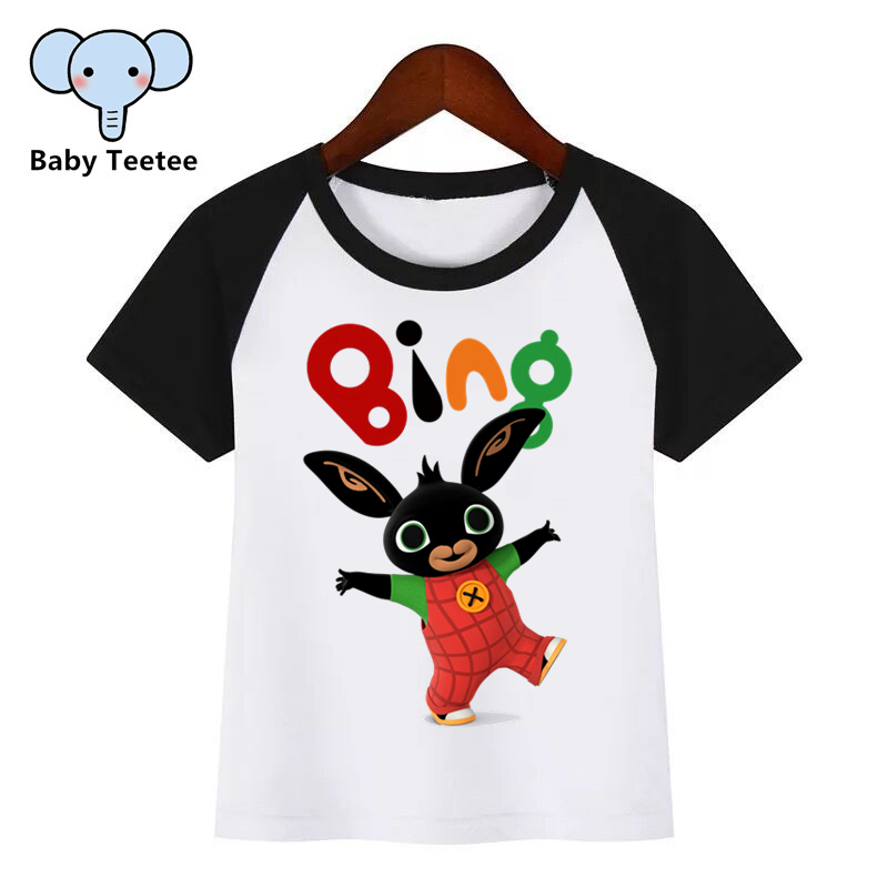 T-Shirt Kids Clothing Funny Rabbit Bing Children Cartoon Print Fashion Summer New title=