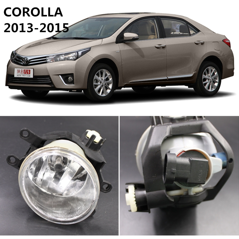 For TOYOTA COROLLA 2013-2015  Car Styling Fog Lights Lamps   1 SET  81220-0R010  81210-0R010 car styling car body trims for toyota corolla 2013 2014 2015 2016 2017 2018 e170