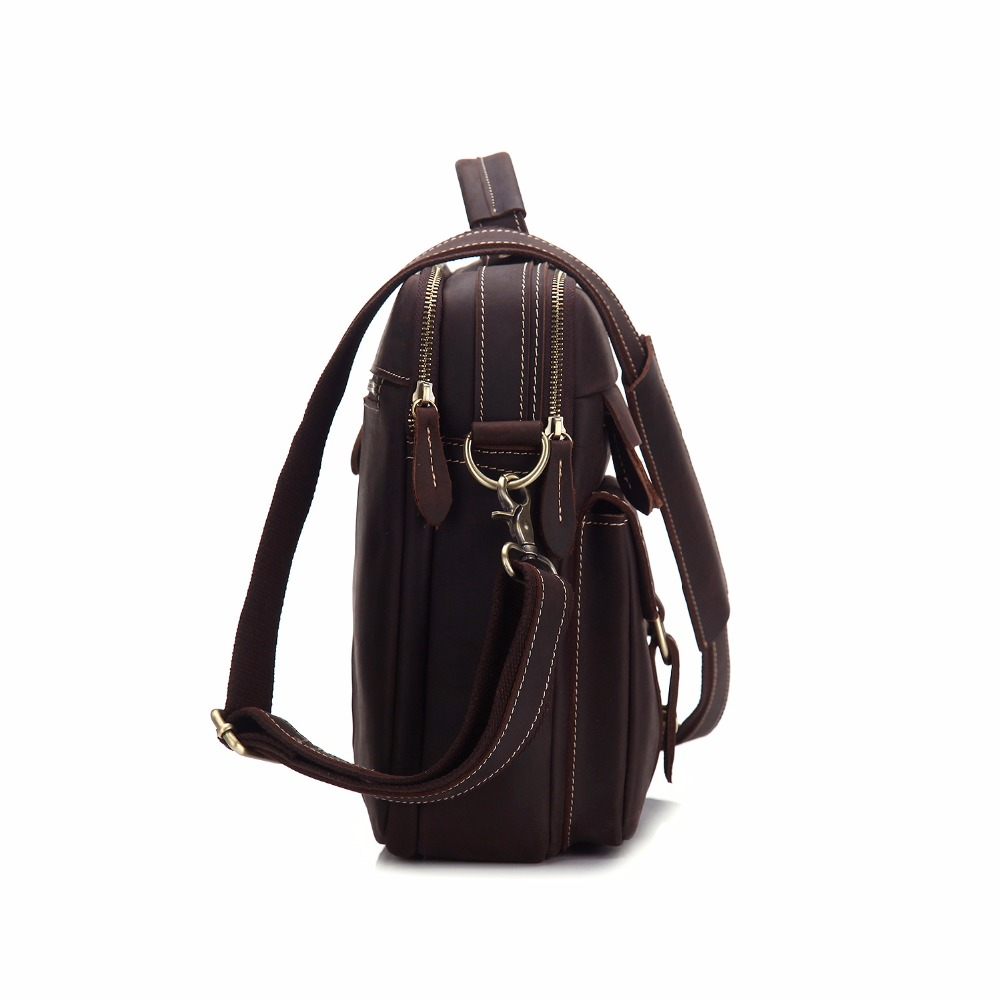 Mâle Main De documents Véritable Cuir Sling brown Body Ms3905 Épaule Porte Vache Peau Crazy Vintage Coffee Sac Cross À En D'affaires Horse Bureau Pour zI0q0Ra