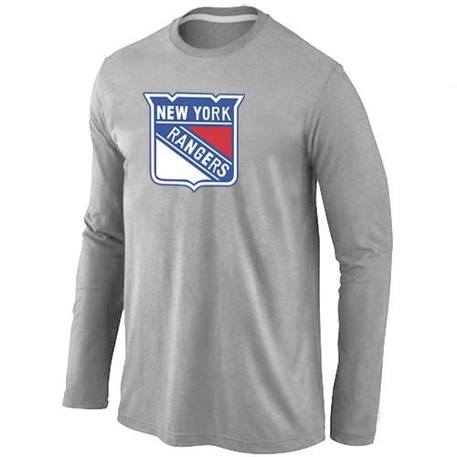 NHL New York Rangers Big & Tall Logo Grey Long Sleeve T-Shirt