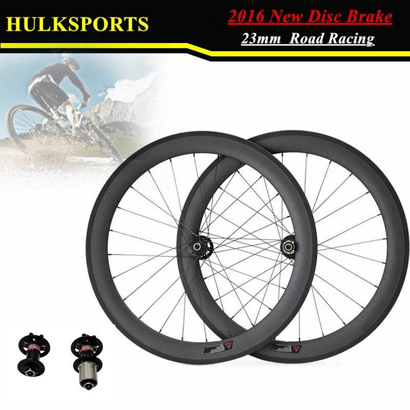 700C 60mm Tubular Disc Brake Wheels 23mm Width LightWeight Road Bicycle Carbon Wheelset HK-WH-60T-W23-D ironfix 568 60 700