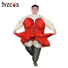 d052e64aa JYZCOS الذاتي نفخ مثير سيدة السمين راقصة النادلة زي للنساء الكبار مضحك نادل  البوريم الأيل الدجاجة ليلة الزي