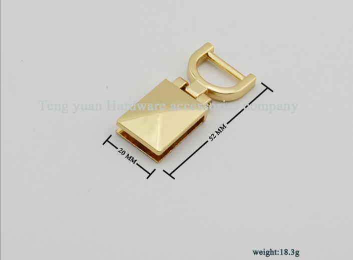 (10 PCS/lot) Pale golden arm in arm buckles on both sides of the straps links to hang bag hook bags leather hardware accessories