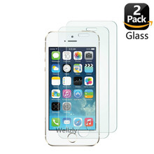 2 Pack Screen Protector For iPhone 5 5s Tempered Glass For iPhone 5 6 7 8 X 10 2.5D 0.26MM Protective Glass On For iPhone 5se 4