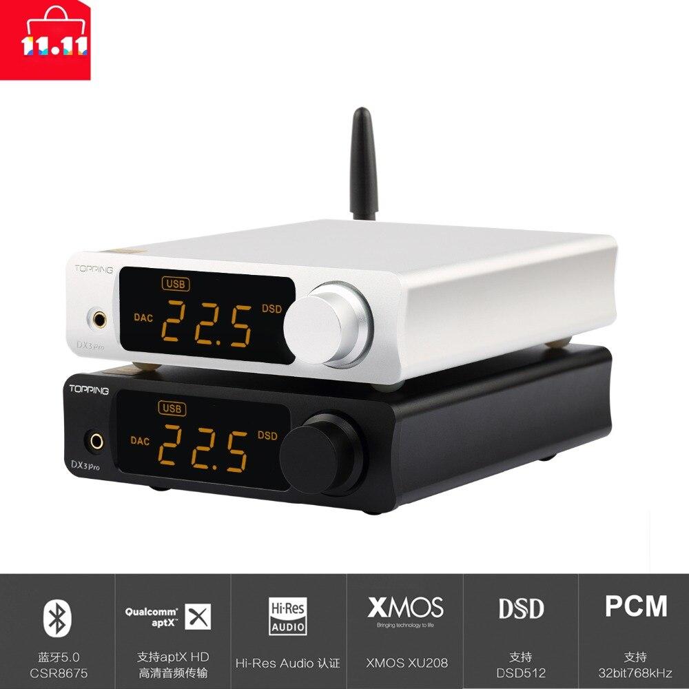 GARNITURE DX3 PRO De Bureau Bluetooth décodage amp AK4493 USB DAC XMOS XU208 DSD512 dur solution Casque sortie AK4493 OPA1612