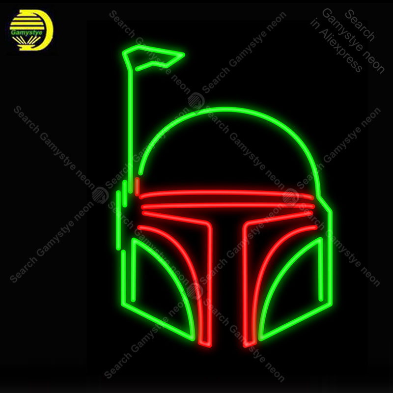 Helmet Neon Signs Real Glass Tube lampara Handcraft neon light Sign Recreation Room Home Wall Windows Iconic Sign Neon Light Art