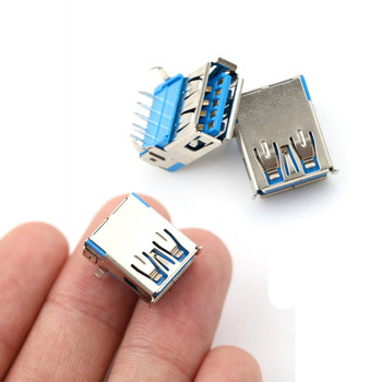 5 Pcs USB 3.0 Type DIP A Female Right Angle 9 Pin Socket Connector 90 degrees - discount item  30% OFF Electrical Equipment & Supplies