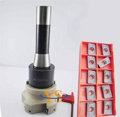New R8 7/16 +face end mill BAP400R-80-27 +10pcs APMT1604 carbide insert CNC Mill new m16 bt40 fmb22 60l arbor bap400r 63 22 4t face end mill 10pcs apmt1604 carbide insert cnc mill