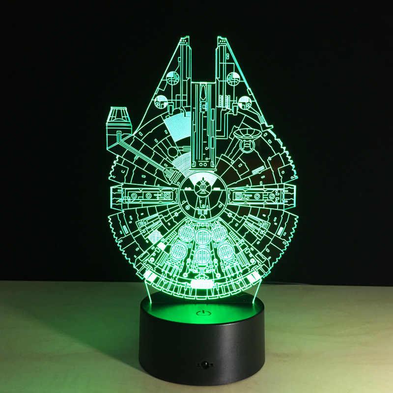 Mudança da Cor Luzes 7 Star Wars Star Wars nave espacial nave espacial Brinquedos para Crianças de ação figura brinquedos presente de Natal