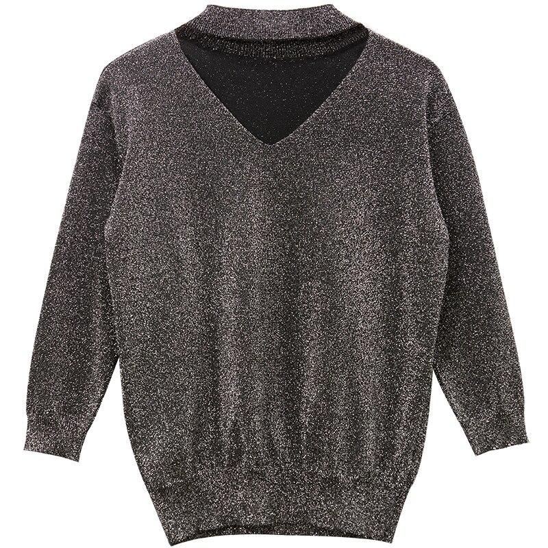 Primavera Y Suéter Mujeres Vintage Moda Black Z84272 Llegada light Casual Fansilanen De Nueva Purple Jerseys Tejer otoño 1qIf0vz