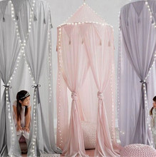 For Hammock Baby Kids Anti-Mosquito Dome Fantasy Champion Net Curtain Play Tent Bed Canopy Mosquito Bed Bedding Round Lace(China)