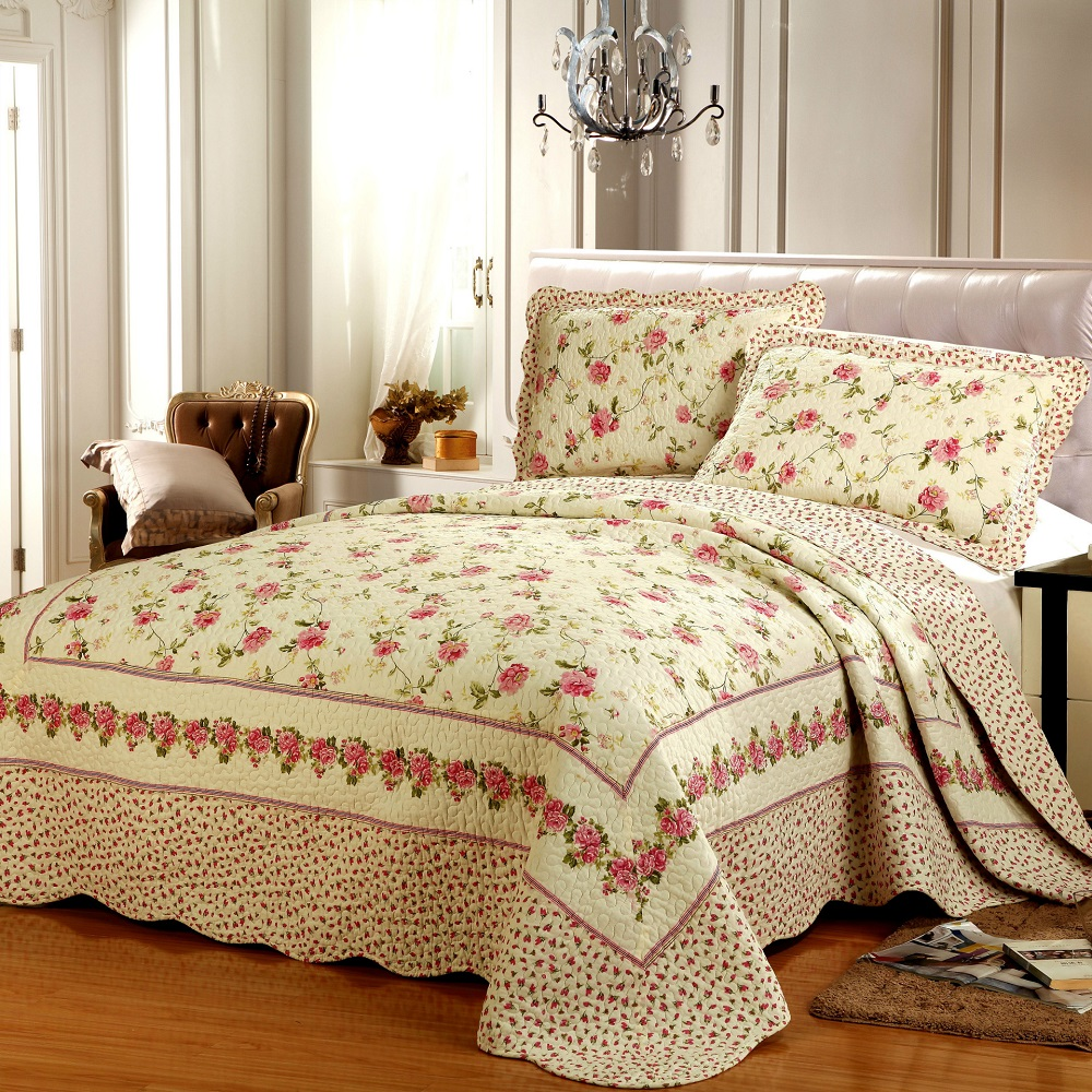 online buy wholesale floral bed sheets from china floral bed  - chausub european floral quilt set pcspcs washed cotton quilts quiltedbedspread bed sheets pillowcase