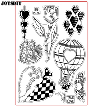 LOVE HEART TRUE LOVE BE MINE ROSE Scrapbook DIY photo cards account rubber stamp clear stamp transparent  Handmade card stamp