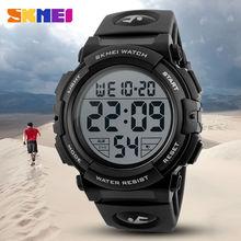 SKMEI Marca Multifunción LED Digital Relojes de Los Hombres de Moda Wristwatche Reloj Deportivo 50 M Impermeable Al Aire Libre Del Relogio masculino 1258