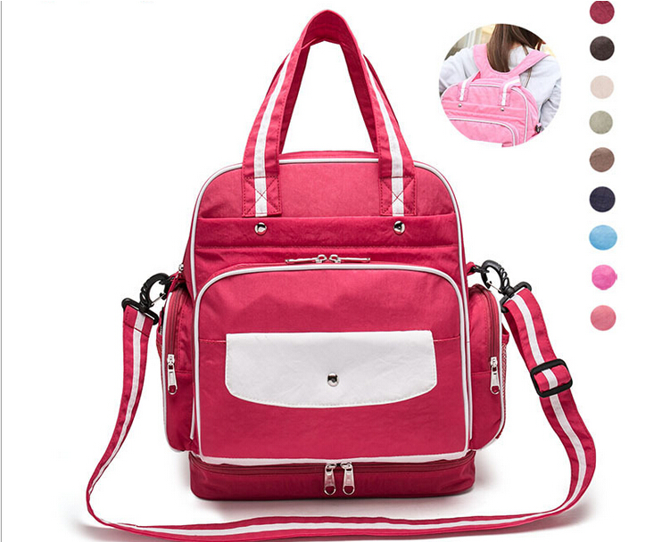 Multifunctional Baby Diaper Backpack Mother Maternity Organizer Baby Nappy Changing Dot Bag Stroller Bag Baby Care от Aliexpress INT