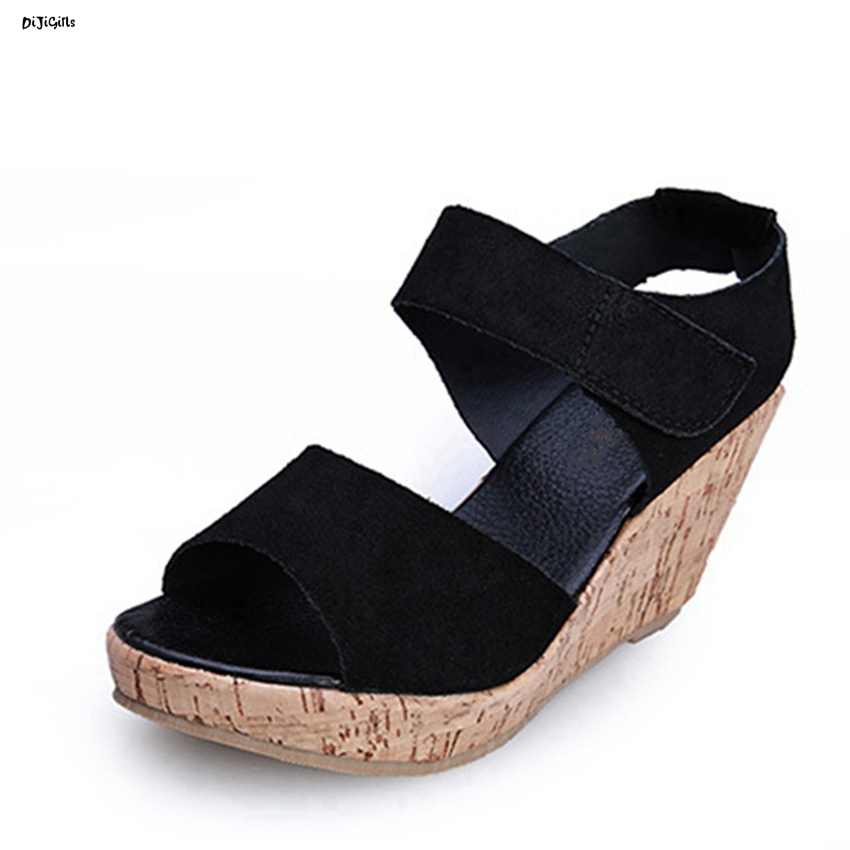 Women Platform Fashion Wedges Sandals Sexy High Heels Open Toe Plus Size Party Shoes Woman Pumps for Summer hh626-3 big size 32 43 fashion party shoes woman sexy high heels platform summer pumps ankle strap sandals women shoes