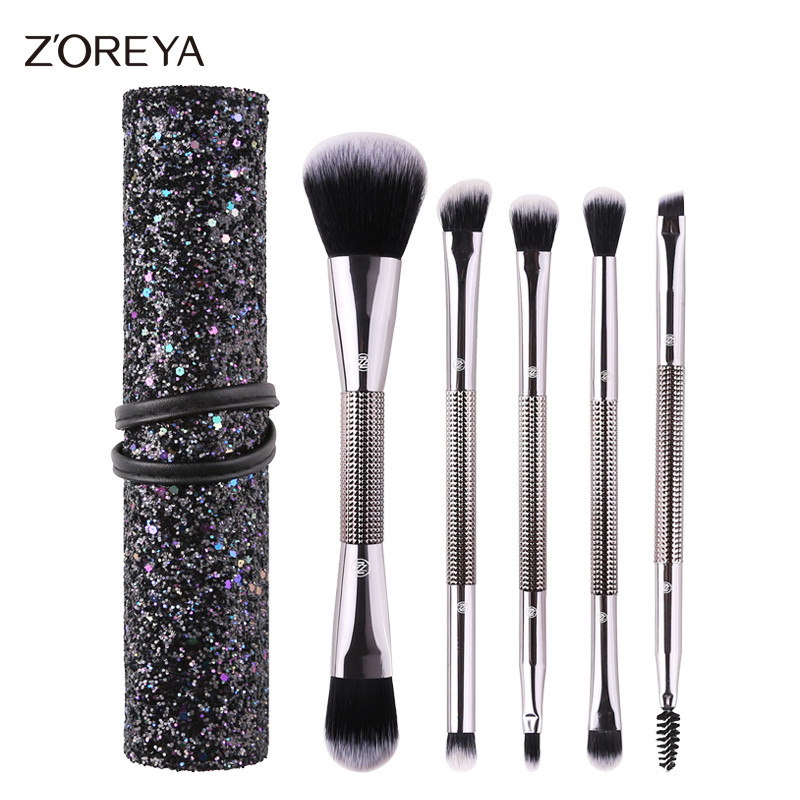 ZOREYA Double Head Makeup Brushes Set Powder Foundation Eye Shadow Blending Lip Eyelash Brush As Essential Make Up Tool zoreya 9pcs professional makeup brushes sets powder blending blusher make up brush eyeshadow maquiagem makeup cosmetic tool kits