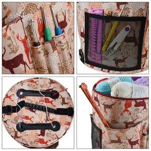 Image 5 - KOKNIT 14 Styles Knitting Bag Yarn Organizer Bag For Wool Crochet Hooks Knitting Needles Sewing Set DIY Yarn Balls Storage Bag