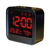 Автоматическое изменение яркости день/ночь рабочего часы светодиодные Despertador USB будильник Температура влажность настольные часы