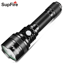 купить Flashlight LED Linterna USB Flash Light Supfire C8-S Hand Light Lanterna Hiking Lamp for Sofirn Convoy C8 Fenix Bike Light A025 по цене 1552.08 рублей