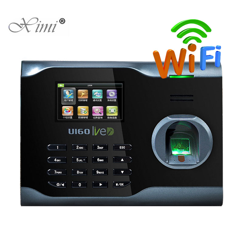 Hot Sale WIFI Communication Biometric Fingerprint Time Attendance Time Clock Linux System ZK U160 WIFI Time Attendance Recorder