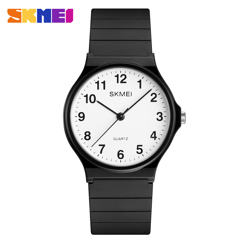 SKMEI Fashion Simple Women Watches Luxury Brand Quartz Watch Women Silicone Waterproof Wrist Watches For Girls Montre Femme 2018