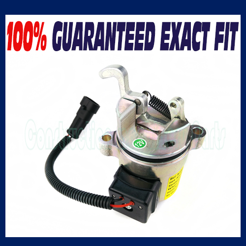 Fuel Shutdown Device shut off solenoid 0428 7116/0428-7116/04287116/M4287116 For Deutz 1011 Engine fuel shut off solenoid valve coil 3964624 fits excavator engine
