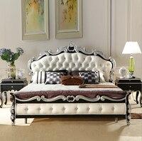 Высокого качества Европейский Современная французская кровать 1,8 м 9091