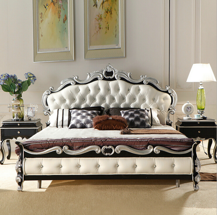 High Quality European Modern Bed French Bed 1.8 M 9091-in