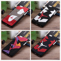 2016 Air Jordan sneakers Retro 4 6 7 Casos De Telefone de Borracha Sole PVC para a apple iphone 6 6 s 6 plus 7 plus 5 5S se homens sprot cobrir