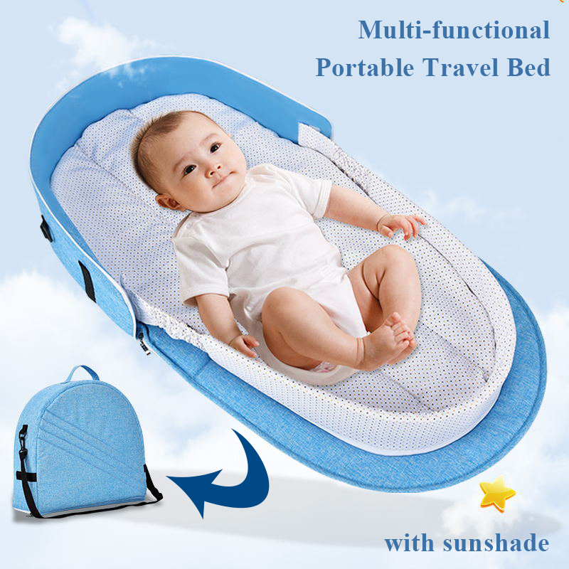 Baby Crib Bed Portable Travel Bed Infant Bumper Crib Cotton Nest Bassinet with Mattress Net Toddler Kids Bedding Set Mommy BagBaby Crib Bed Portable Travel Bed Infant Bumper Crib Cotton Nest Bassinet with Mattress Net Toddler Kids Bedding Set Mommy Bag