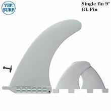 Single Fin+GL Surfboard Longboard Fins and GL Fins 9.0 inch White Plastic Surfboard Fins + GL Fins new and original gl 18hl