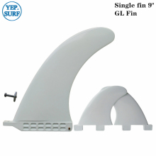 SUP Single Fin+GL Surfboard Longboard Fins and GL Fins 9.0 inch White Plastic Fins stand up paddle
