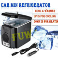 DHL UPS 3-7 days Car Refrigerator Portable 12V 6L Auto Mini Car Travel Fridge Quality ABS Multi-Function Cooler Freezer Warmer