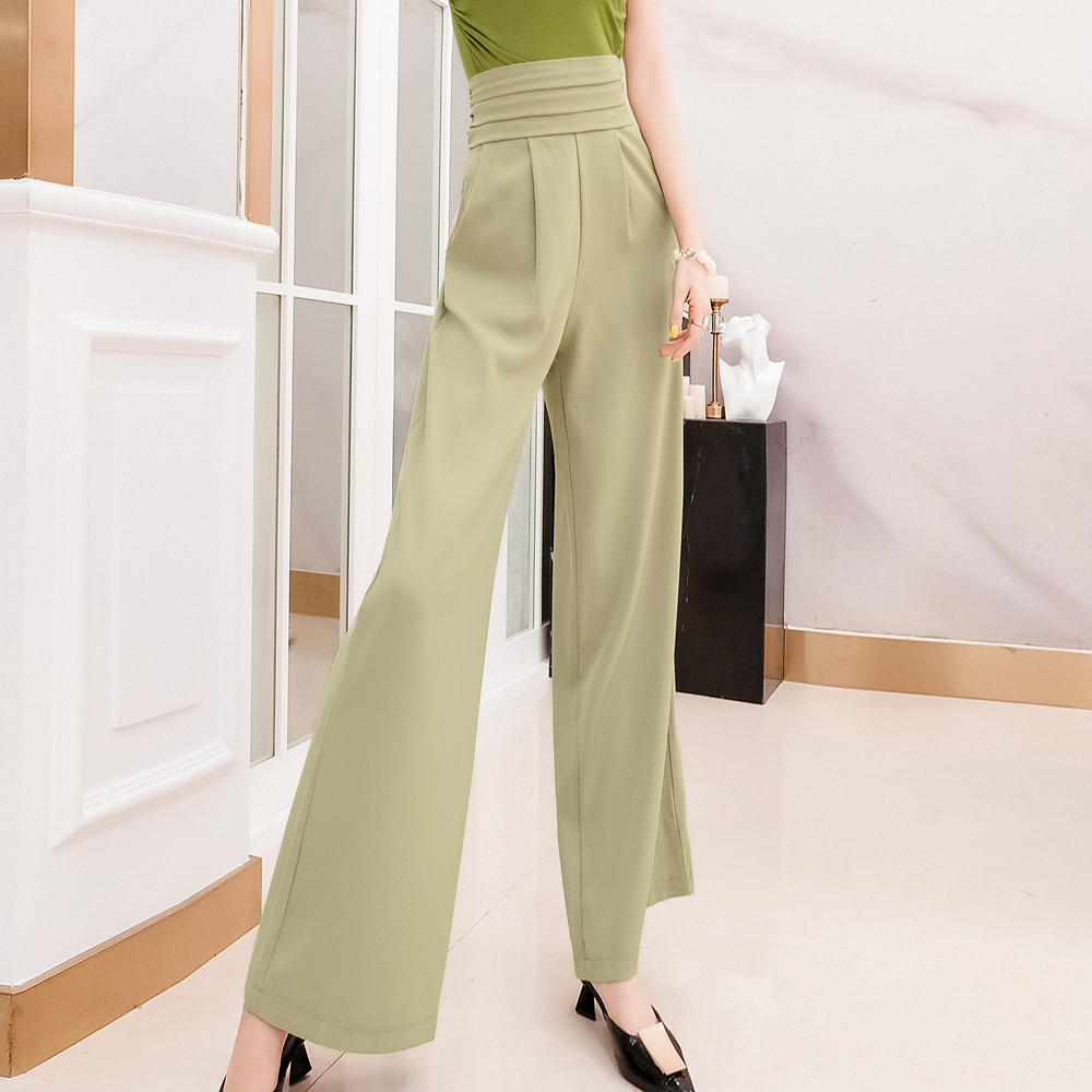 Pants   female summer new high waist loose trousers   wide     leg     pants   wild casual   pants   plus size trousers women   pants   women