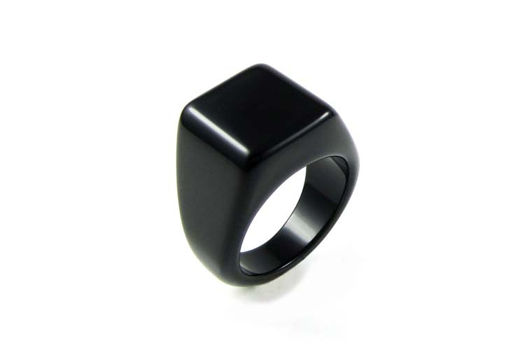 Mens Black Onyx Rings influx of Korean personalized fashion jewelry