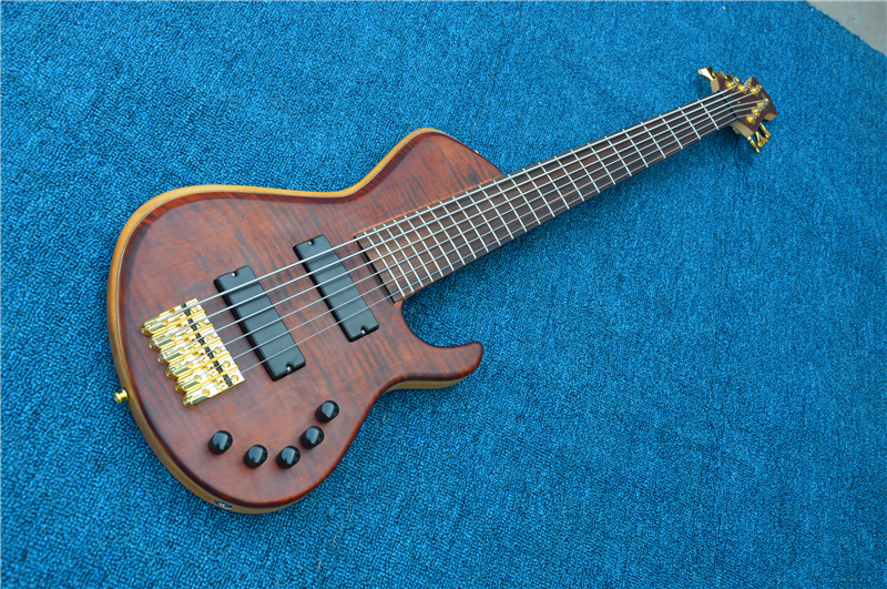 Personnalisé Shop chine guitare basse 6 cordes 24 frettes palissandre touche guitare électrique cou livraison gratuite