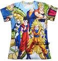 Estilo del verano harajuku camiseta anime dragon ball Z SUPER SAIYA print t camisa 3d 3d hombres / mujeres top camisetas más el tamaño S-3XL envío gratis