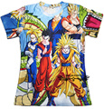 Summer style harajuku t shirt anime dragon ball Z SUPER SAIYA print 3d t shirt men/women top tees plus size S-3XL Free shipping