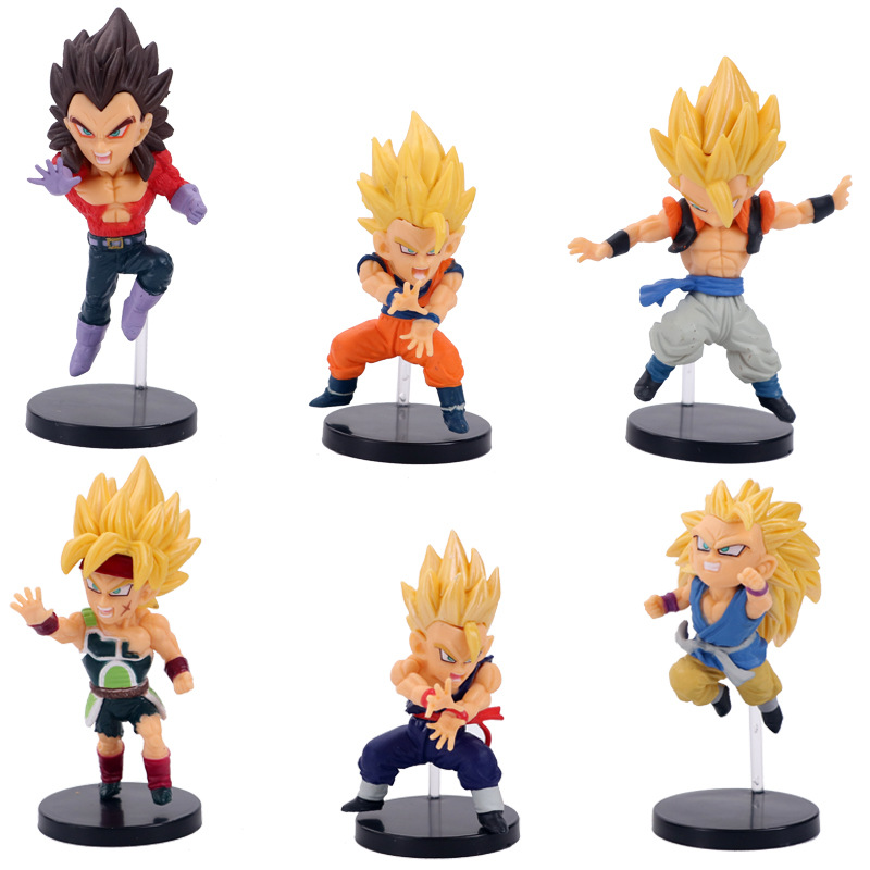 Search For Flights 6pcs Dragon Ball Burdock Super Saiyan 4 Vegeta Gotenks Action Figure Toy Doll Brinquedos Figurals Collection Dbz Model G Sophisticated Technologies Toys & Hobbies